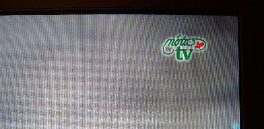 nóta TV on screen